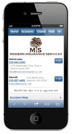 m.mymoderninsurance.com website preview